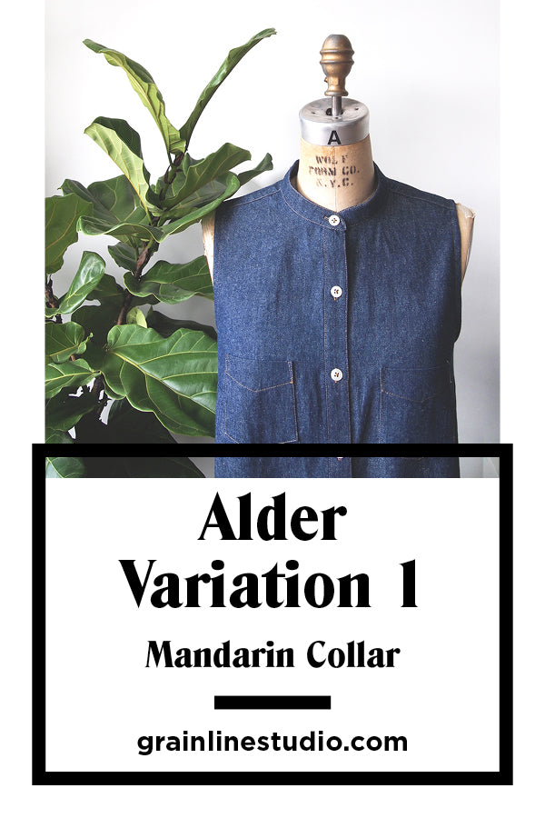 Alder Variation One Mandarin Collar | Grainline Studio