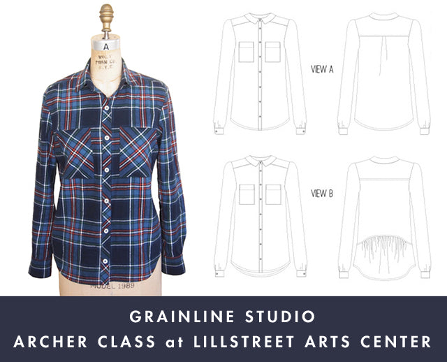 Grainline Studio | Archer Class at Lillstreet