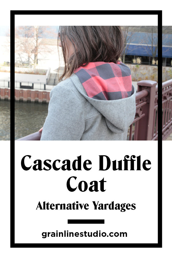 Cascade Duffle Coat Sew-Along Alternative Yardages | Grainline Studio