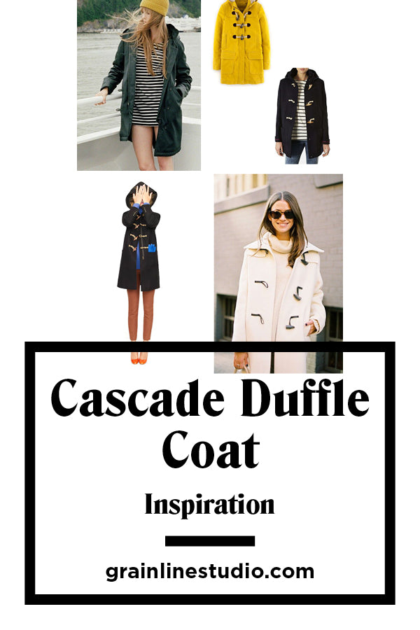 Cascade Duffle Coat Inspiration | Grainline Studio