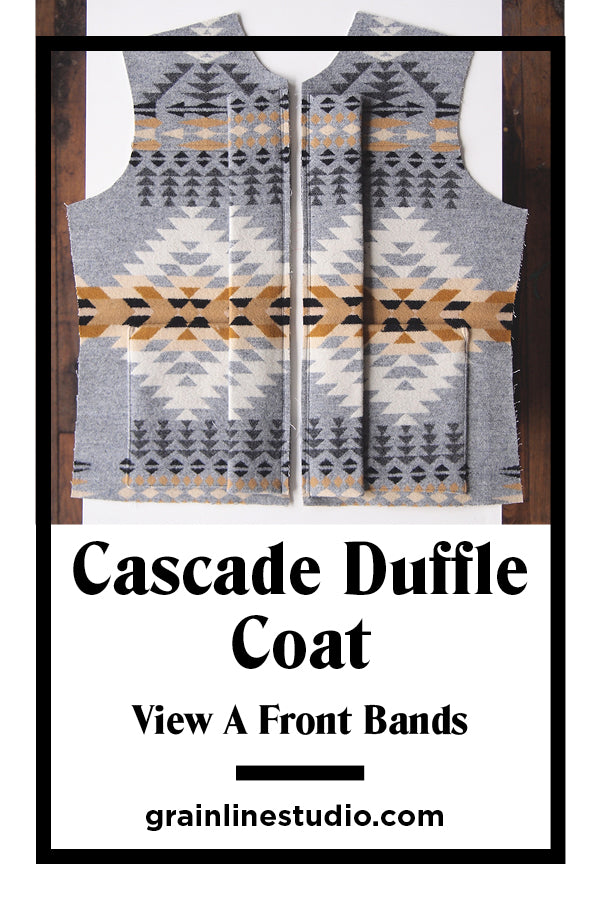 Cascade Duffle Coat Sew-Along View A Front Bands | Grainline Studio