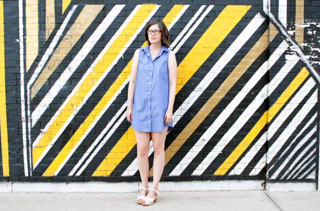Summer Wardrobe | Chambray Button Down Dress | Grainline Studio