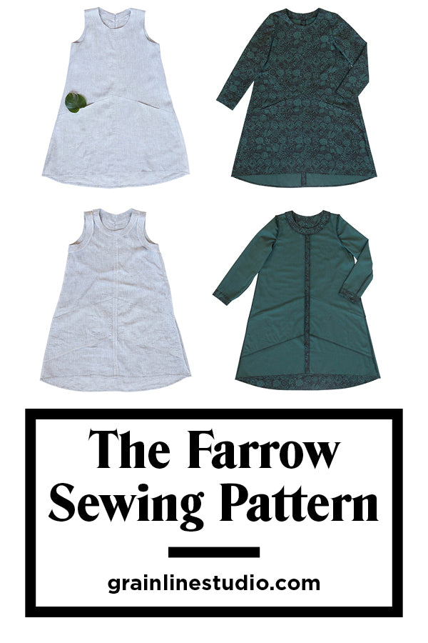The Farrow Dress Sewing Pattern by Grainline Studio