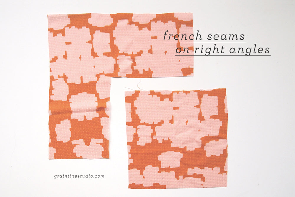 Grainline Studio | French Seams on 90 Degree Angles