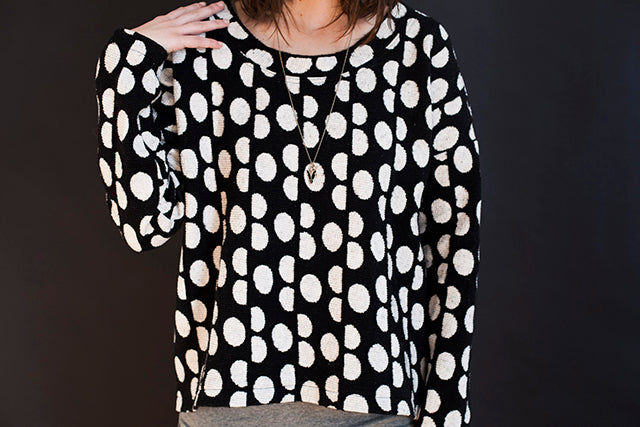 Grainline Studio | Polka Dot Sweatshirt