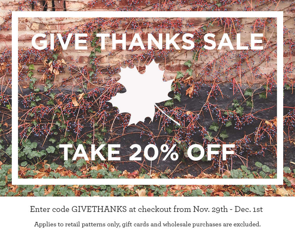 Grainline Studio | Give Thanks Sale