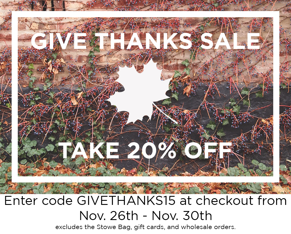 Last Day of Our Annual Give Thanks Sale | Grainline Studio