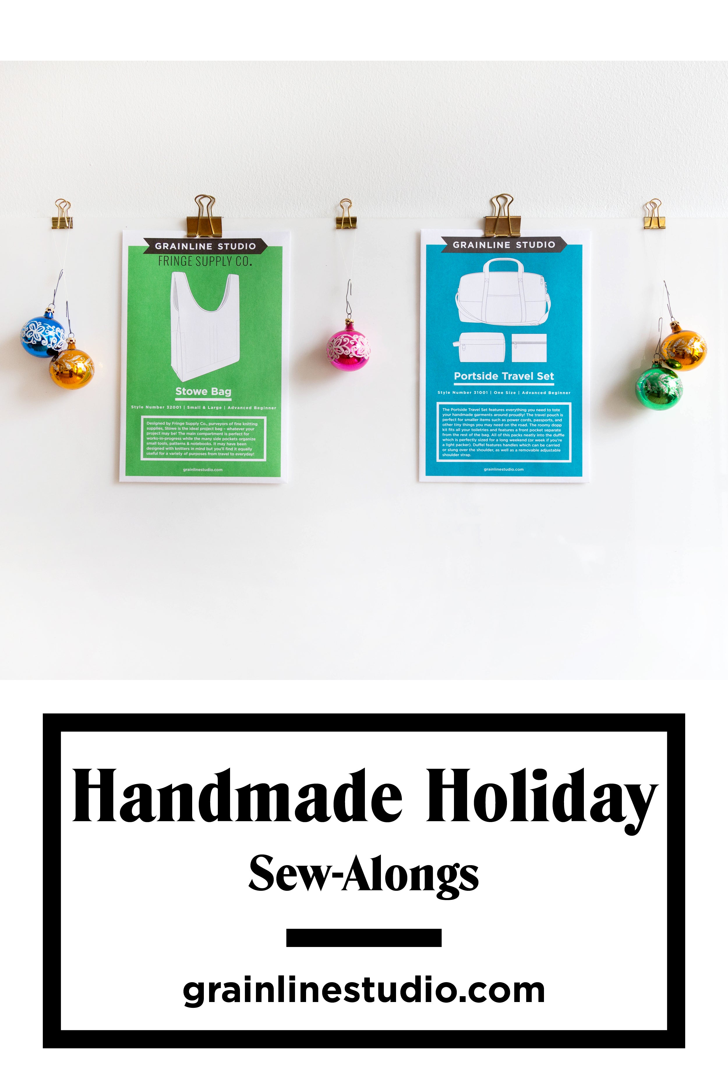 Handmade Holiday Sew-Alongs with Grainline Studio