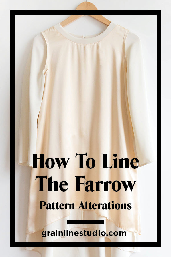 How to Line the Farrow Dress Pt. 1: Pattern Alterations | Grainline Studio