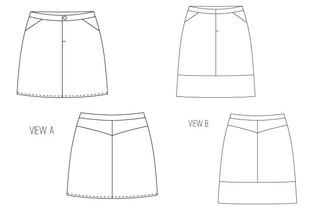 Moss Skirt Women's Sewing Pattern | Grainline Studio