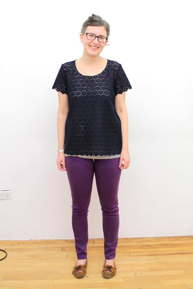 Navy Lace Tee | Grainline Studio