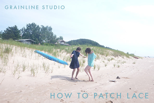 Grainline Studio | Sewing Tutorial | Patching Lace