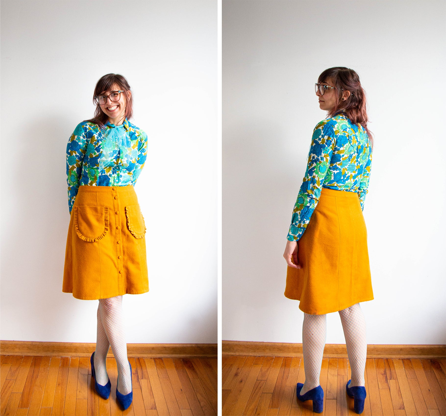 Lexis Reed Skirt with fancy pockets | Grainline studio