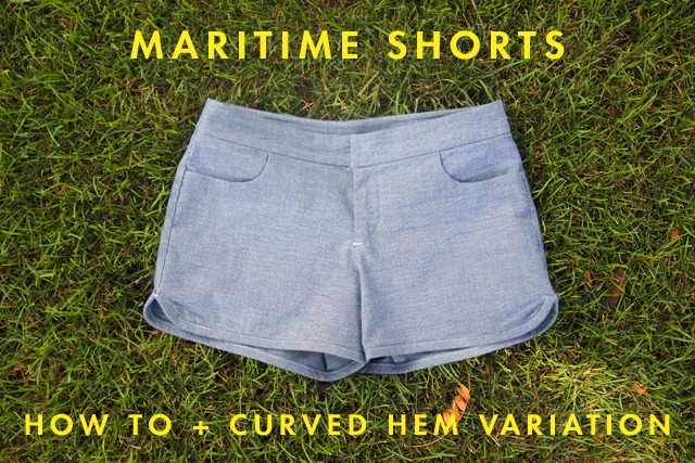 Maritime Shorts Curved Hem Variation | Grainline Studio