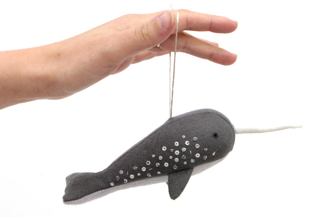 Free Narwhal Ornament Pattern | Grainline Studio