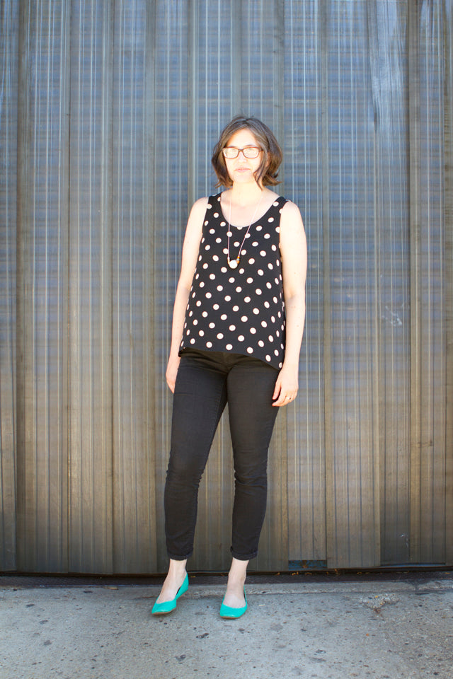 Summer Wardrobe | Polka Dot Silk Tank | Grainline Studio