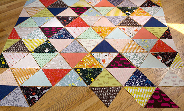 Grainline Studio | Laying out the Catnap Quilt