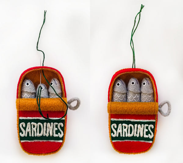 Holiday Ornaments Can of Sardines | Grainline Studio