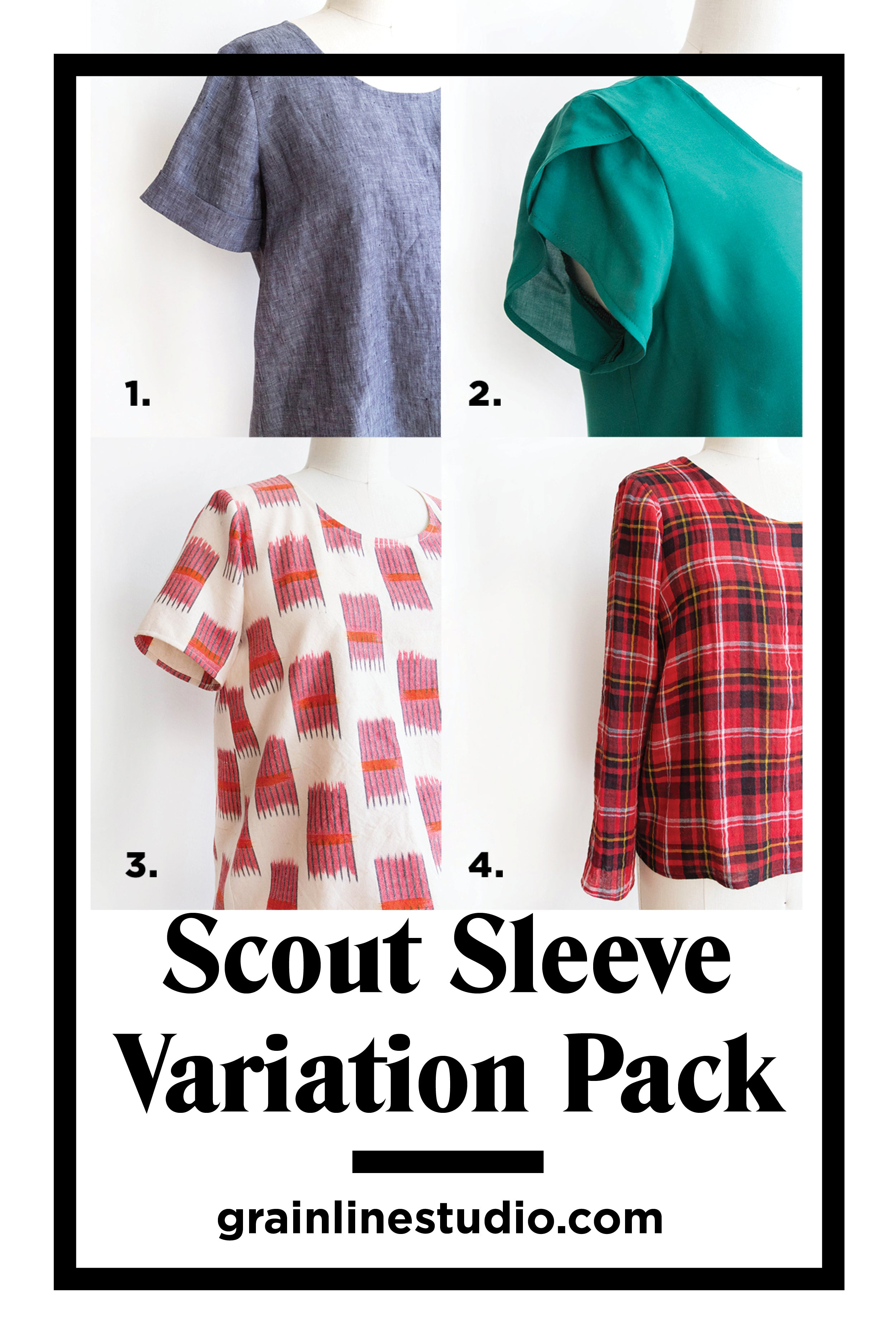 Introducing the Scout Sleeve Variation Pack | Grainline Studio