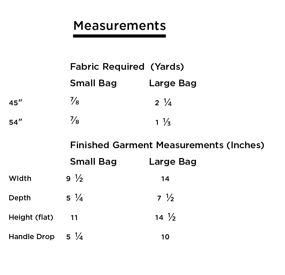 Grainline Studio Stowe Measurements