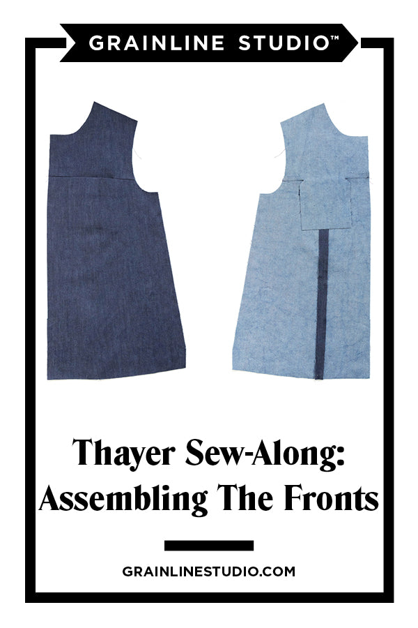 Thayer Sew-Along: Assembling the Fronts | Grainline Studio