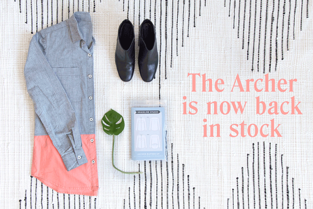 Archer Back in Stock | Grainline Studio