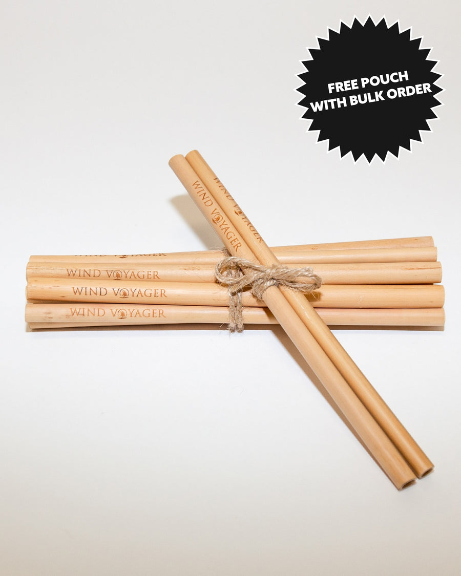Handcrafted Wind Voyager Bamboo Straws - 10 Pack