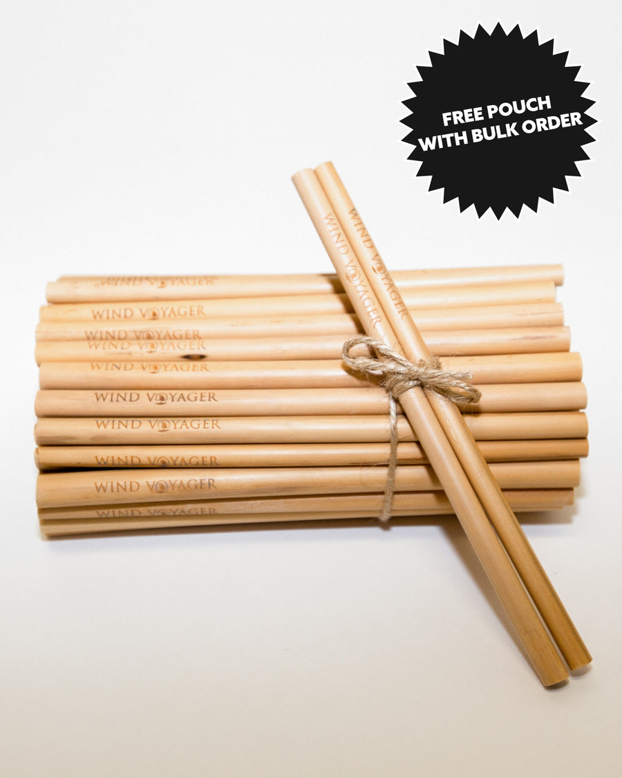 Handcrafted Wind Voyager Bamboo Straws - 100 Pack