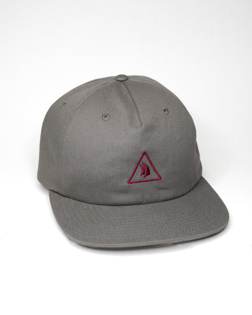 Steel Grey 5 Panel Embroidered Hat
