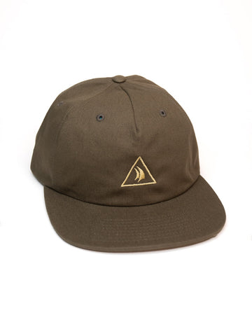 Olive 5 Panel Embroidered Hat