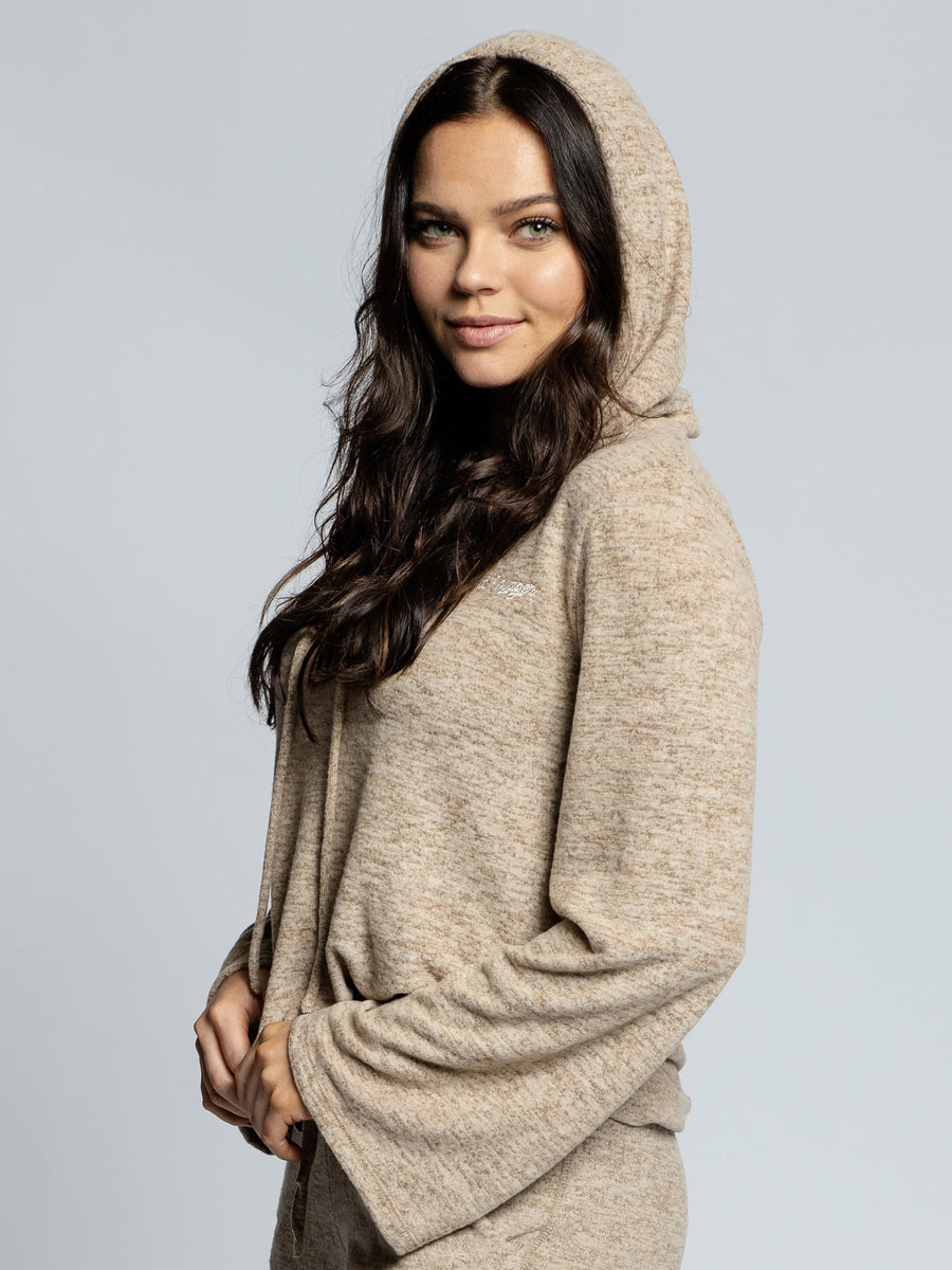 Women's Taupe Lounge Hoodie