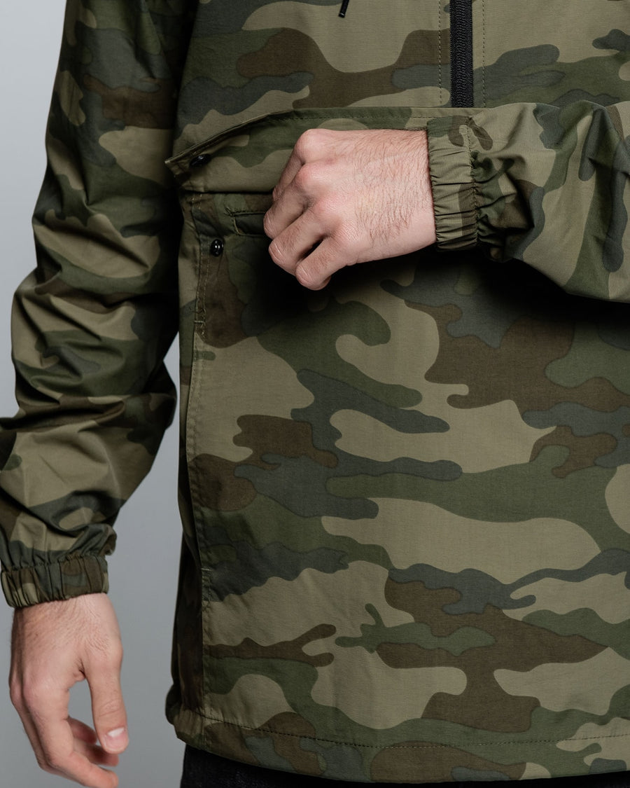 Forest Camo Anorak Windbreaker