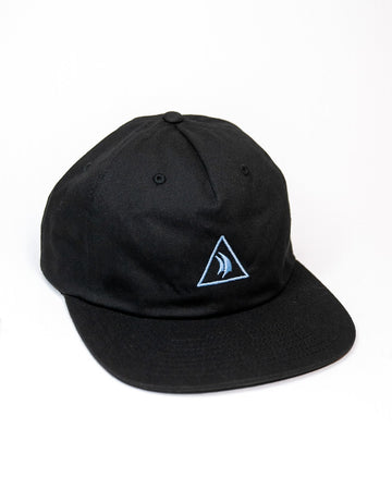 Black 5 Panel Embroidered Hat