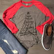 Load image into Gallery viewer, Visions of race cars & Trophies - Holiday Raglan