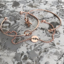 Load image into Gallery viewer, Custom Rose Gold Number Bracelet