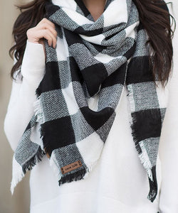 Race Life Buffalo Check Blanket Scarf