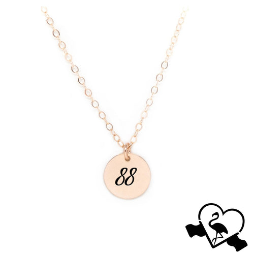 Custom Rose Gold Number Necklace