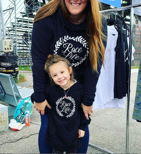 Toddler and Youth Girls Race Life Hoodie