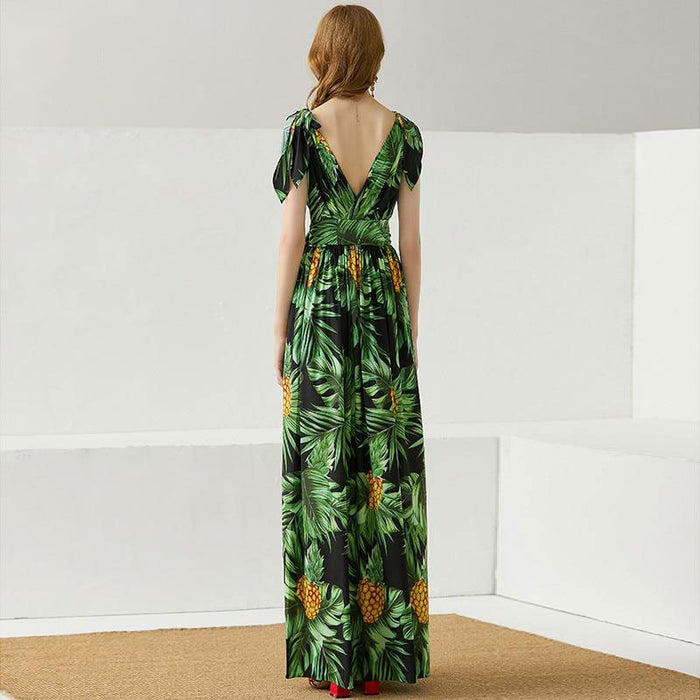 Liliana Tie Sleeve Maxi Dress