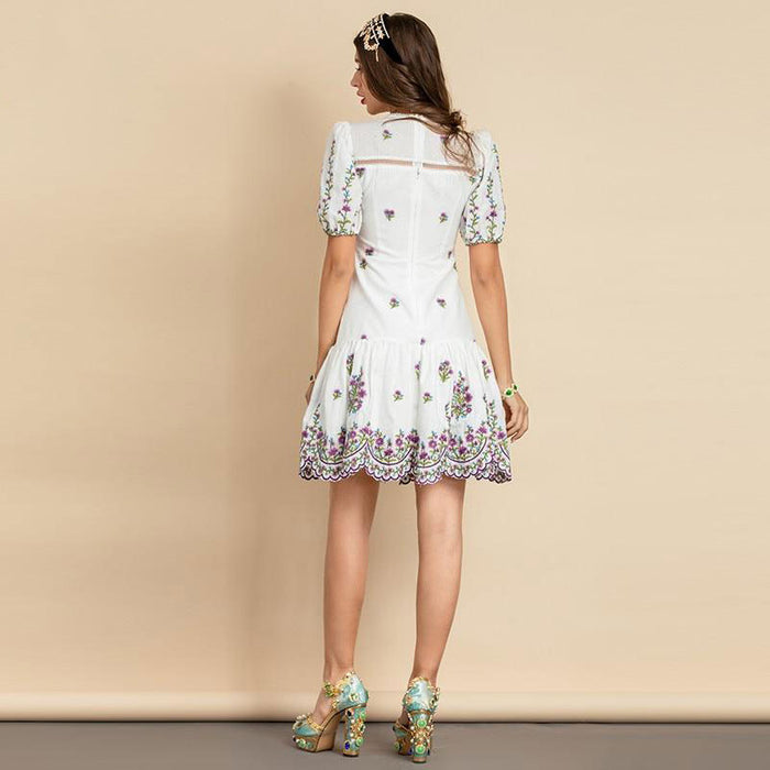 Talia Embroidered Mini Dress