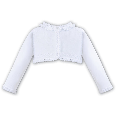 White Bolero Cardigan 100% Cotton