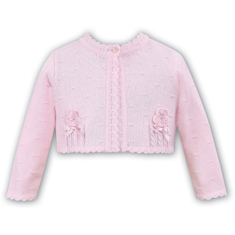 Bolero Sweater in Pink 100% Cotton