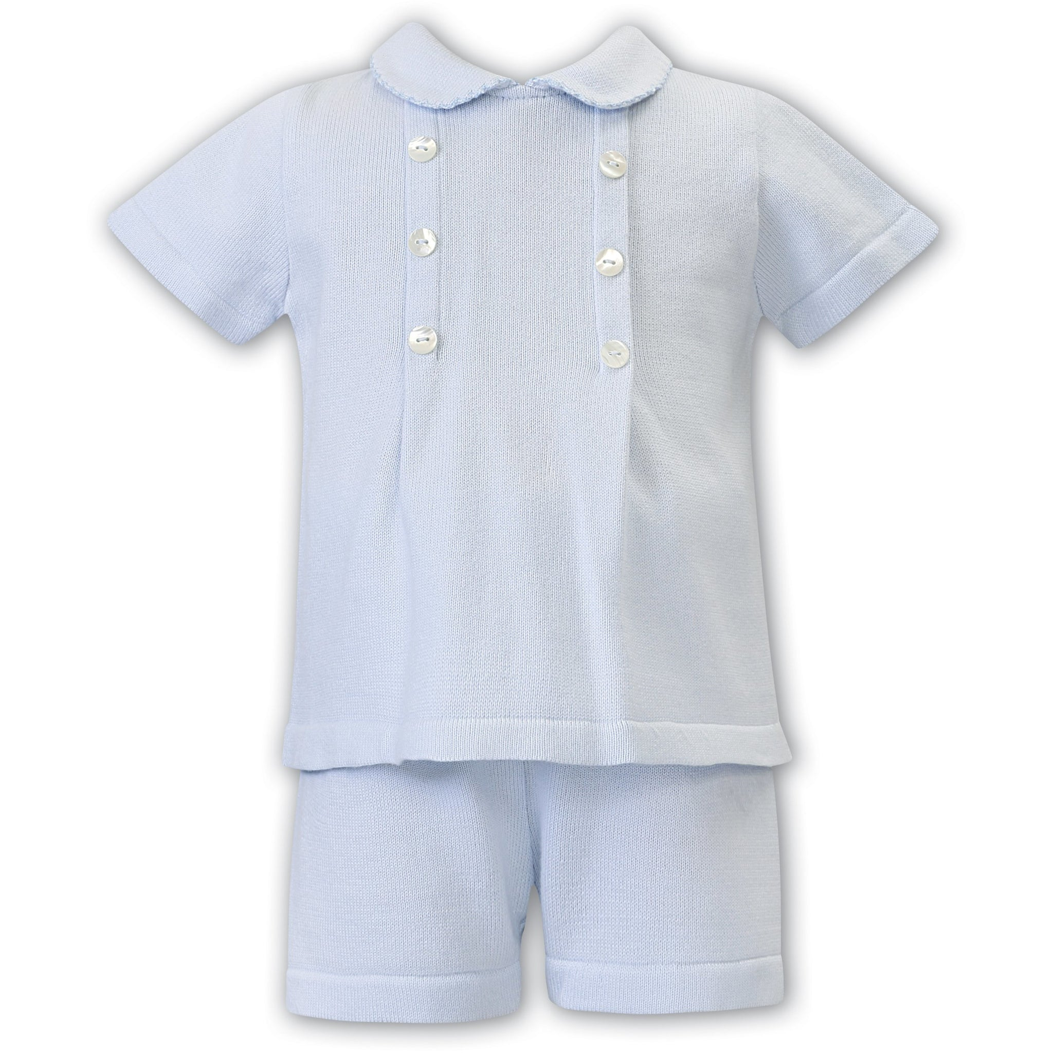 2 Pc Blue Knit Boys Set