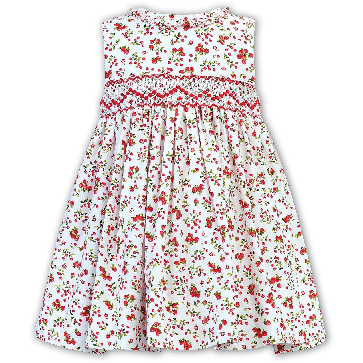 Hand Smocked Cherry Print Dress