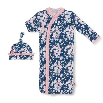 Aberdeen modal magnetic sack gown + hat set
