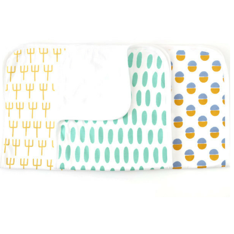 Premium baby burp cloths - southwest