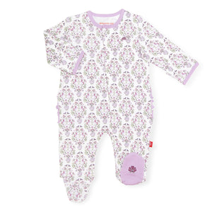 unicorn dreams organic cotton magnetic footie