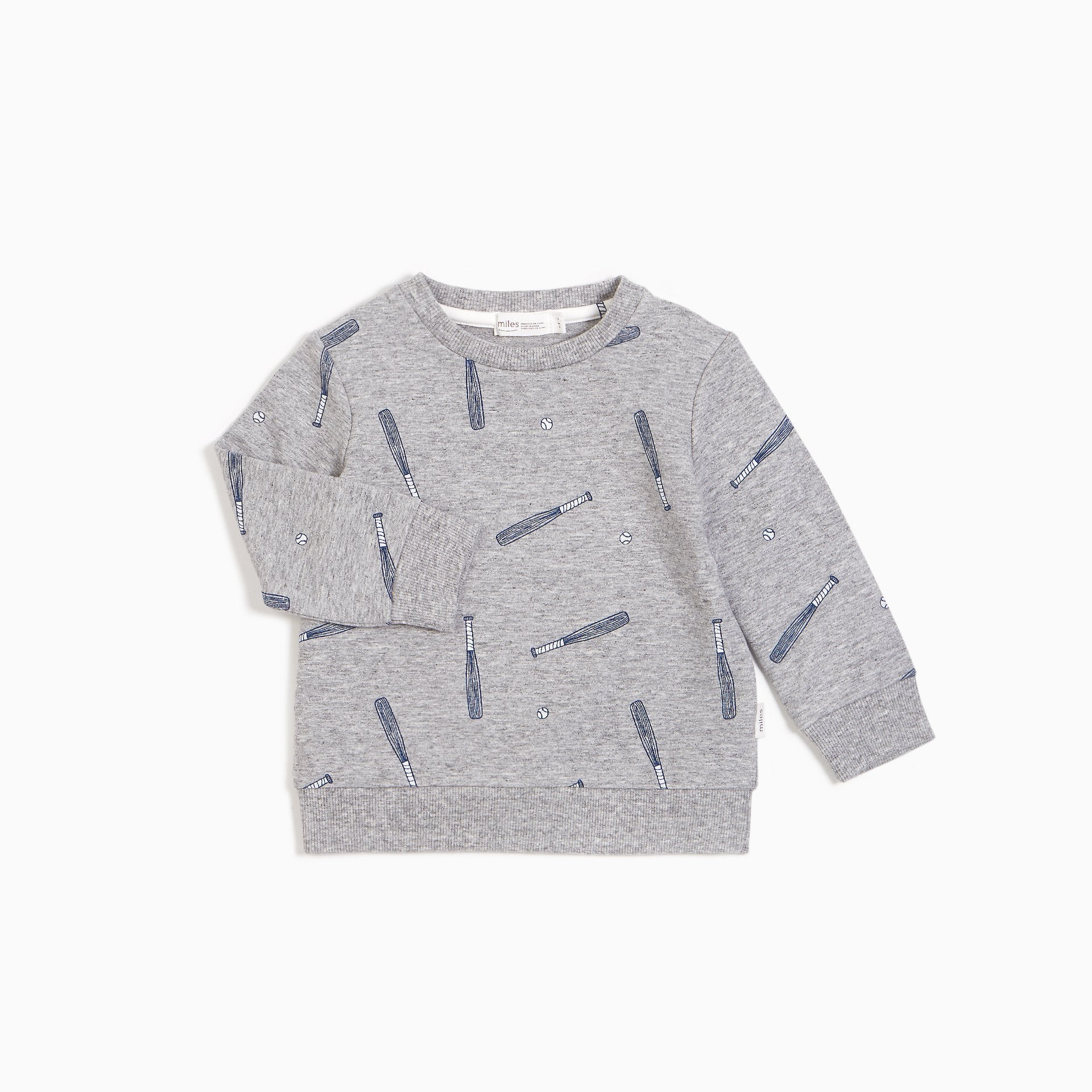 BATTER PRINT GREY SWEATSHIRT