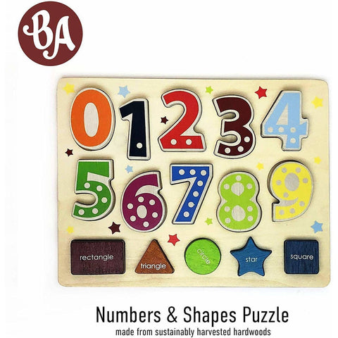 Number and Shape Puzzle Toddler Learning Puzzle Shape Sorter