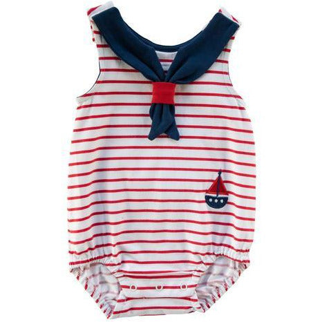 Red Stripe Sailor Bubble